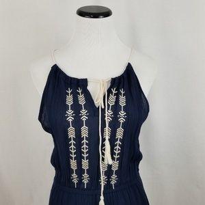 Sadie & Sage Dresses - NEW Sadie & Sage Navy Blue Embroidered Sundress